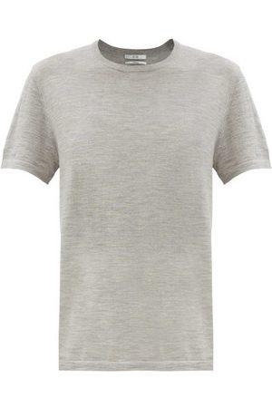 CO Round-neck Knitted Cashmere T-shirt - Womens - Dark Grey