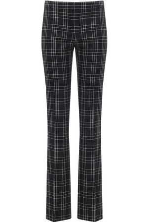 Alexander McQueen Welsh Check Wool Straight Leg Pants