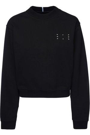 McQ Logo Detail Cotton Crop Sweatshirt