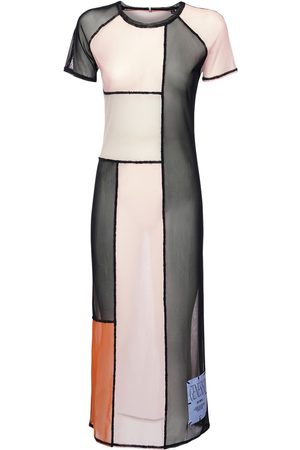 McQ Genesis Ii Patchwork Sheer Mesh Dress
