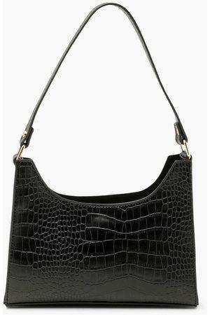 Boohoo Womens Croc Structured Mini Day Bag - - One Size