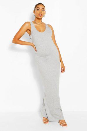 Boohoo Womens Maternity Scoop Neck Jersey Maxi Dress - - 4