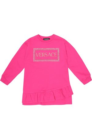 VERSACE 90s Vintage cotton sweater dress
