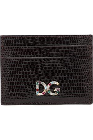 Dolce & Gabbana DG embossed leather card holder