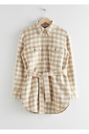 & OTHER STORIES Oversized Belted Shirt Jacket