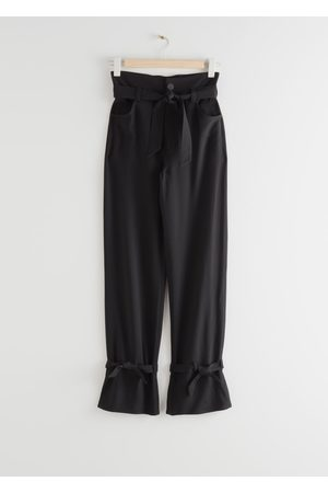 & OTHER STORIES Belted Paperbag Waist Trousers