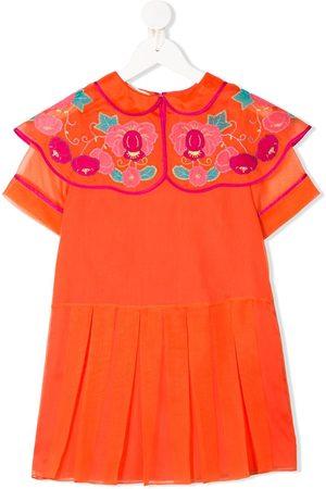 Gucci Floral collar bib dress