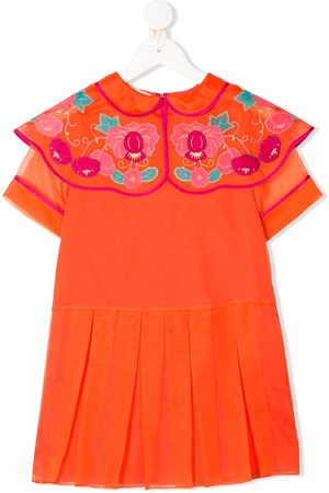 Gucci Girls Printed Dresses - Floral collar bib dress