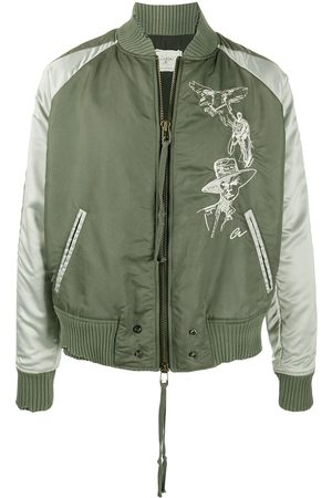 GREG LAUREN Distressed bomber jacket