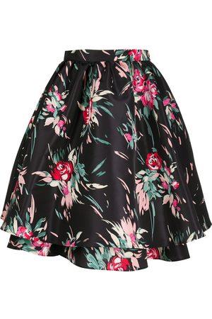 La DoubleJ High-waisted floral print tutu skirt