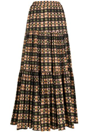 La DoubleJ Women Printed Skirts - Abstract print tiered skirt
