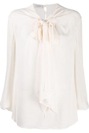VALENTINO Tie-neck blouse - Neutrals