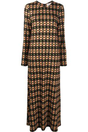 La DoubleJ Long sleeve printed swing dress