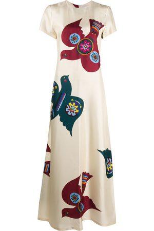 La DoubleJ Swing short-sleeved dress - Neutrals