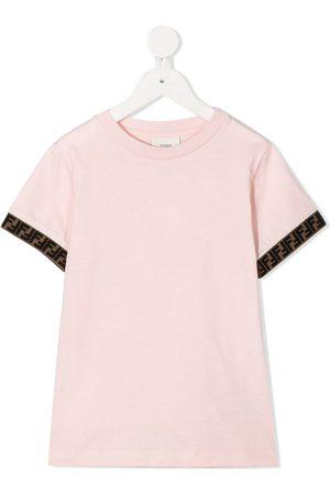 Fendi Logo-trim T-shirt