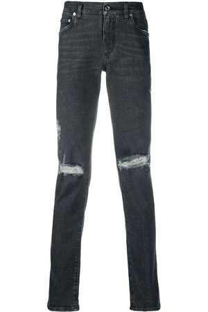 Dolce & Gabbana Ripped detail straight jeans