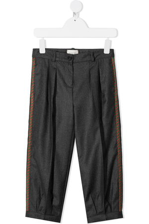 Gucci Embroidered side-panel trousers - Grey
