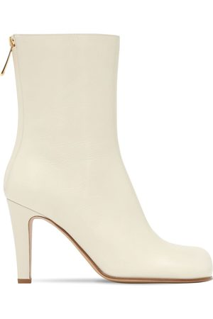 Bottega Veneta 90mm Leather Ankle Boots
