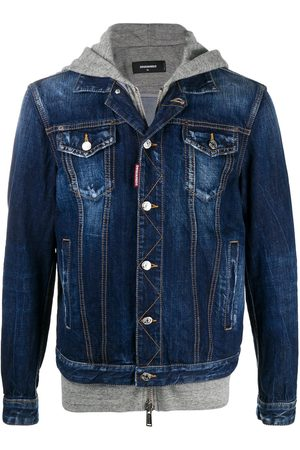 Dsquared2 ICON jersey hood denim jacket