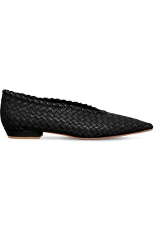Bottega Veneta 10mm Woven Leather Ballerinas
