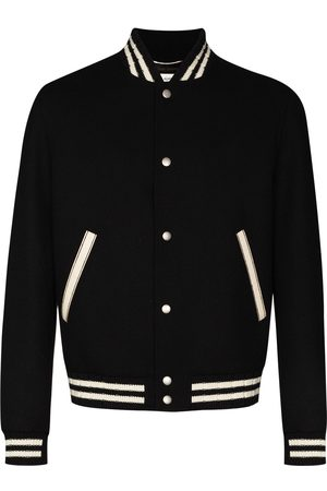 Saint Laurent Logo-embroidered varsity jacket