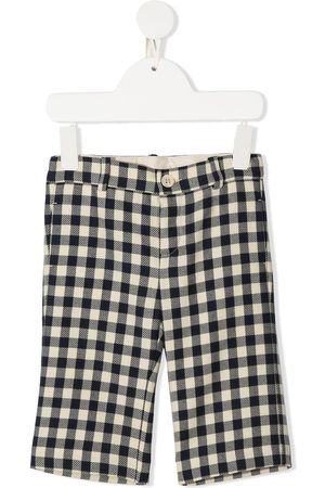 Gucci Gingham straight leg trousers