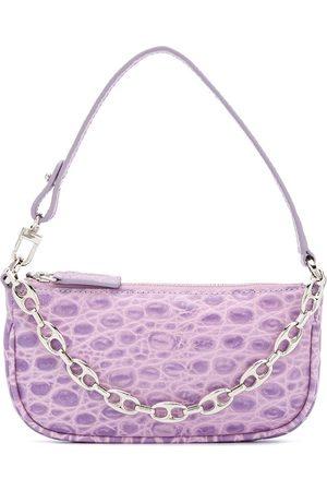 BY FAR Women Shoulder Bags - Rachel crocodile-effect shoulder bag