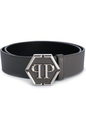 Philipp Plein Men Belts - PP hexagonal plaque belt - Grey