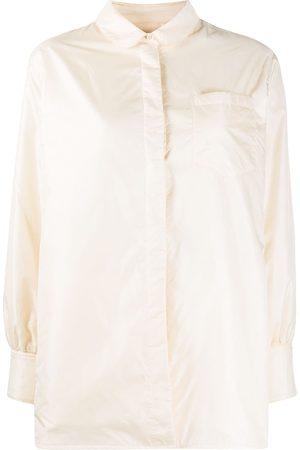 Aspesi Concealed button-up shirt coat - Neutrals