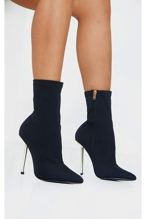 PRETTYLITTLETHING Women Heeled Boots - Woven Metal Heeled Boots