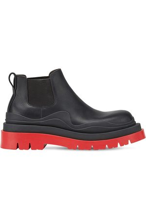 Bottega Veneta Bv Tire Leather Chelsea Mid Boots