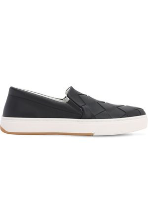 Bottega Veneta 20mm Woven Leather Slip-on Sneakers