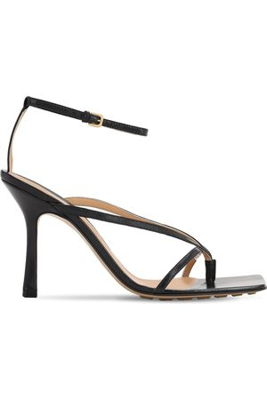 Bottega Veneta 90mm Crisscross Leather Sandals