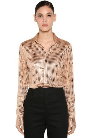 Bottega Veneta Mirror Embellished Jersey Shirt