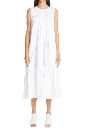 CO Women's Tiered tton Midi Dress