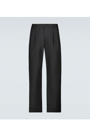 VALENTINO Nylon single-pleated pants