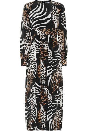 RIXO London Emma printed silk midi dress