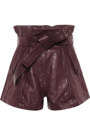 ULLA JOHNSON Othella leather paperbag shorts