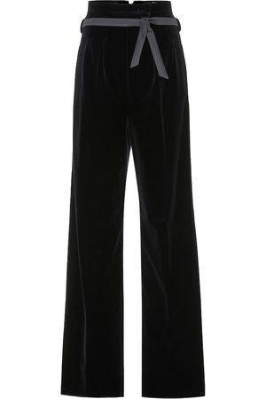 Max Mara Lella high-rise velvet pants