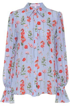 Carolina Herrera Floral silk blouse