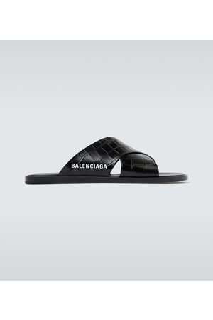 Balenciaga Logo leather sandals