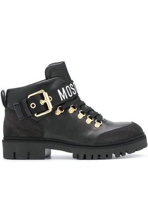 Moschino Leather lace-up boots