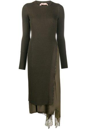Nº21 Asymmetric knit dress