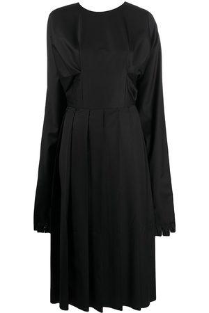 Natasha Zinko Glove-cuff pleated skirt midi dress