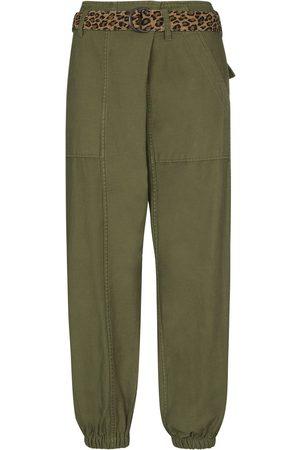 R13 Contrast-belt combat trousers