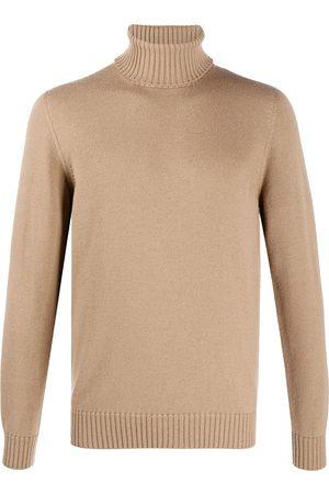 DRUMOHR Roll-neck fitted jumper - Neutrals