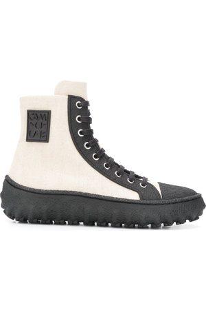 CamperLab Ground textured high-top sneakers - Neutrals