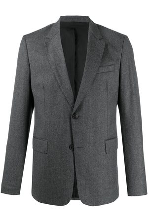 Ami Men Blazers - Virgin wool single-breasted blazer - Grey