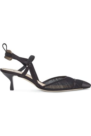 Fendi Colibrì sheer-panelling pumps