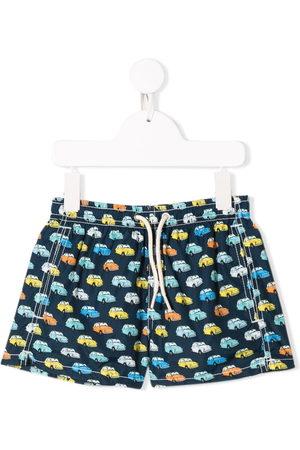 MC2 SAINT BARTH Boys Swim Shorts - Car print swim shorts